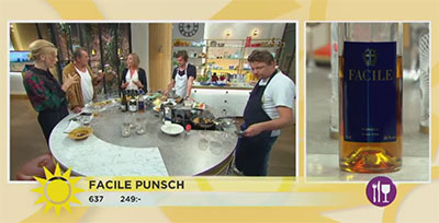 Facile punch i TV4 Nyhetsmorgon 8 september 2017